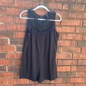 F21 black romper with lace
